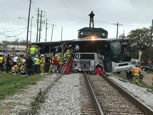 bus/train crash