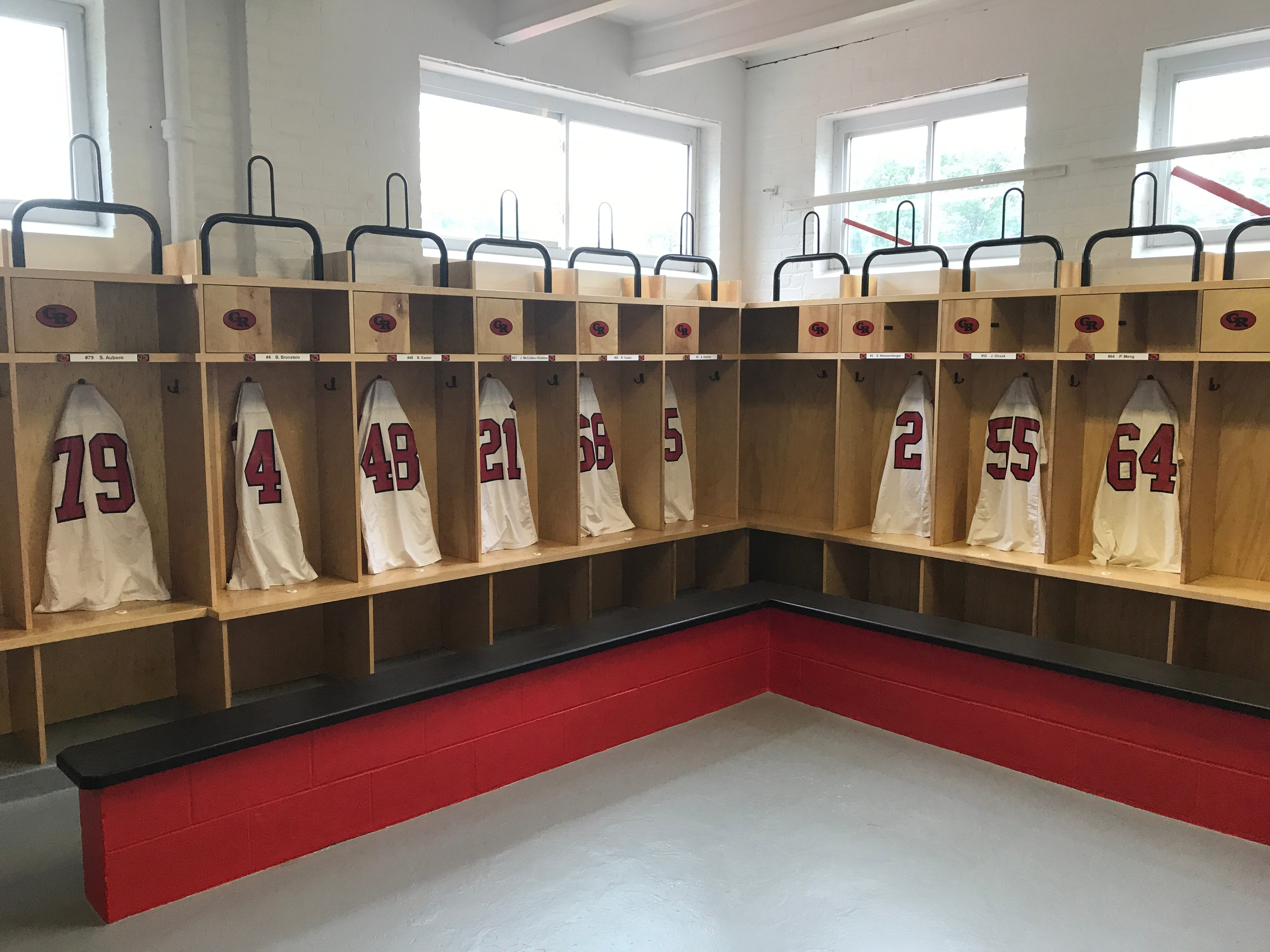 The Glen Ridge High School Football Team Got To See Its New Locker Room At  Hurrell Field On Tuesday, Part Of A Multi Phase Renovation Project Of The  Field ...