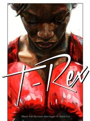 "The movie poster for ""T-Rex,"" a documentary about Flint"