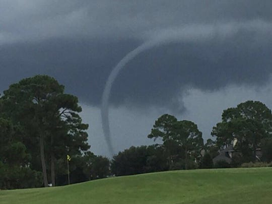 Waterspout from Tiger Point in Gulf Breeze.