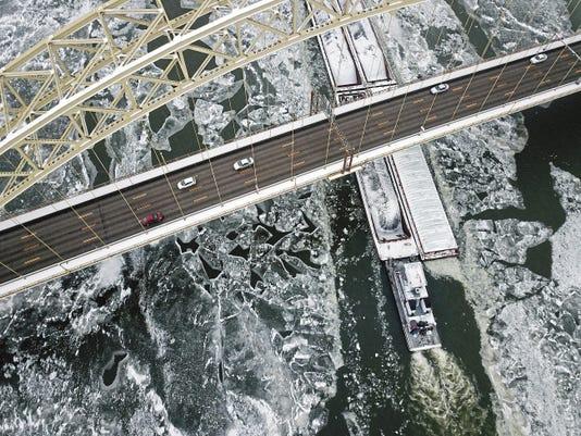 APTOPIX Deep Freeze Pittsburgh