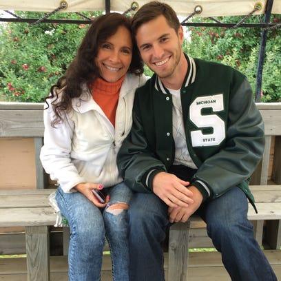 Mike Sadler and his mother, Karen Sadler, attended the National Football Foundation awards dinner together on Dec. 9, 2014, at the Waldorf Astoria in New York City.