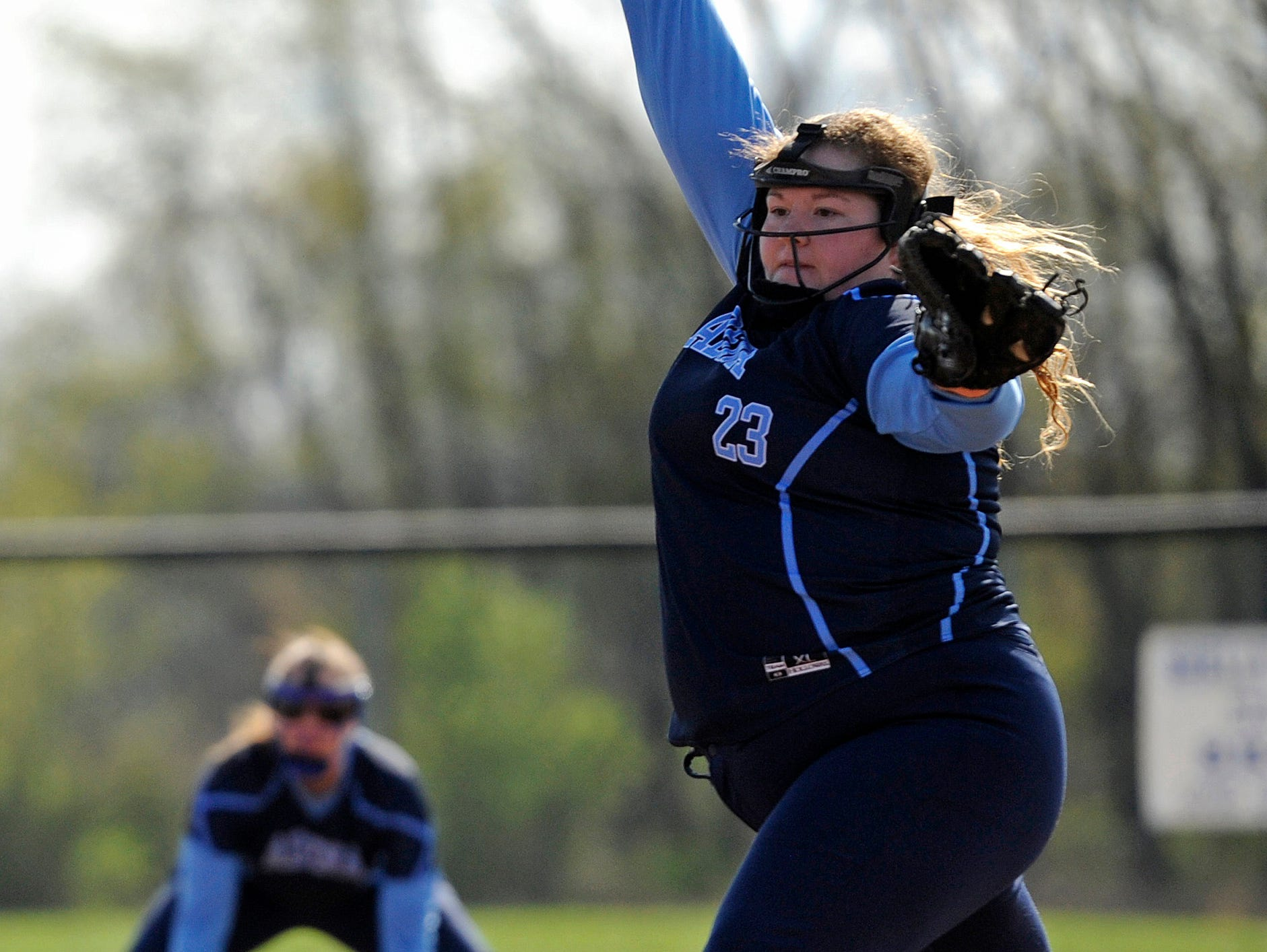 Adena's Brooklyn Detty pitched the entire game against Southeastern at Southeastern on Wednesday. Adena won 10-3.