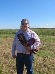 Vann Bighorse, of the Osage Nation, gave a blessing
