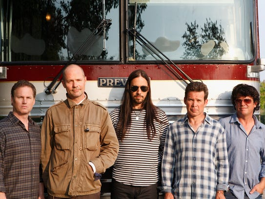The Tragically Hip:  (l-r) Johnny Fay, Gord Downie,