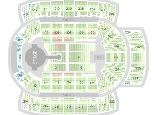 Available seats at the Blake Shelton concert at CenturyLink