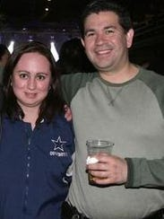 Erika Quiñones and William Wolff in March 2012 attended
