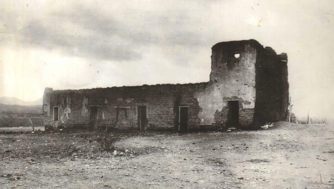 The Tubac Presidio in 1908.