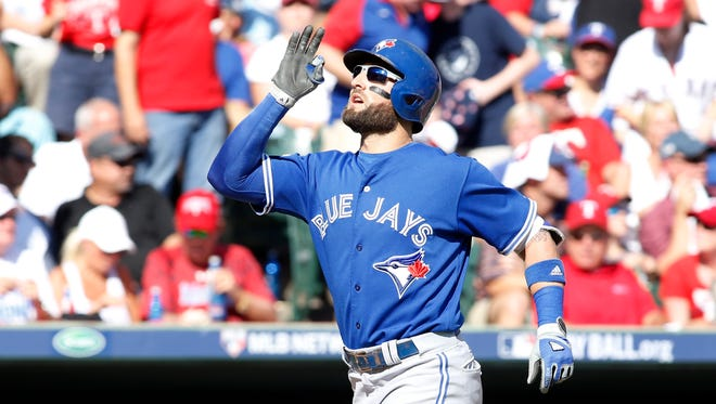 Kevin Pillar is one of three batters who hit a home run for the Blue Jays.