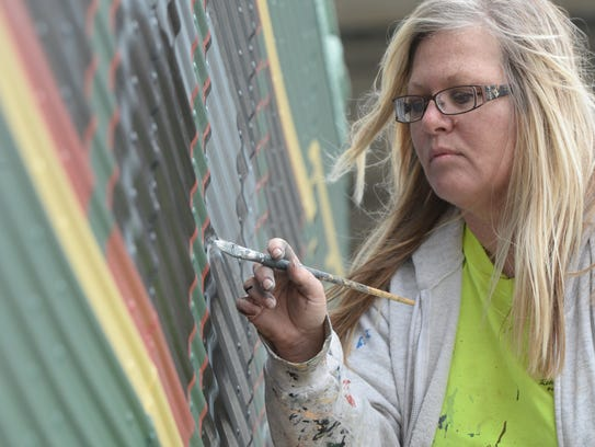 Pamela Bliss was one of 10 U.S. artists hired to make