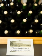 Cabernet Sauvignon bottles available at Fort Selden