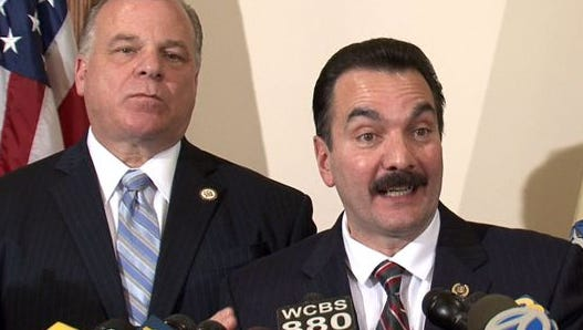 Senate President Stephen Sweeney (left) and Assembly Speaker Vincent Prieto say they were disappointed with Gov. Chris Christie's State of the State address Tuesday.