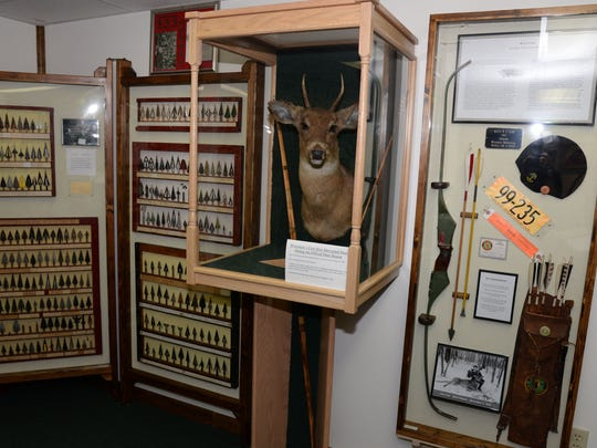 The spike buck killed by Racine's Roy Case in 1930 is the only mounted deer in the Wisconsin Bowhunting Hall of Fame.