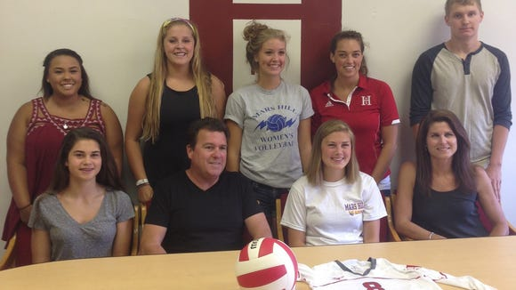 Hendersonville volleyball player Robbi Clark has signed