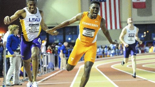 Vols sprinter Christian Coleman has clocked a blazing 40-yard dash time.