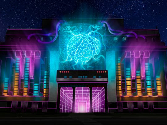 A rendering of The Neon Unconscious by Maxin10sity