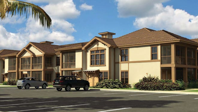 A rendering of the proposed Springs at Gulf Coast apartment community, which would have 203 housing units.