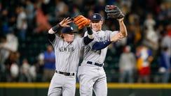 Jul 21, 2017; Seattle, WA, USA; New York Yankees left