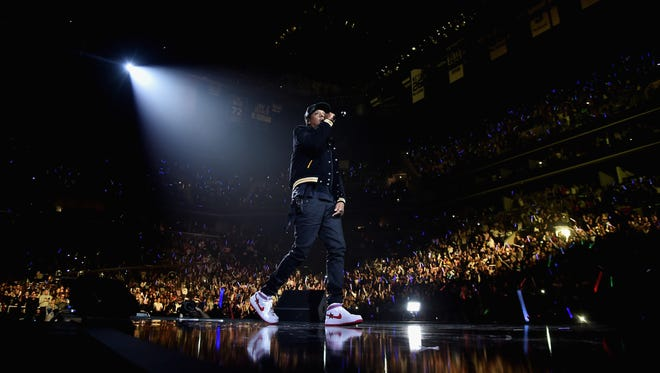 Jay Z performs onstage during TIDAL X: Brooklyn at Barclays Center of Brooklyn on Oct. 17, 2017, in New York.