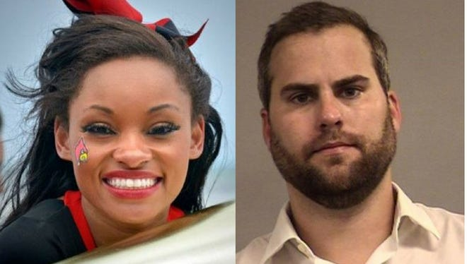 Shanae Moorman, a former U of L cheerleader, and Bradley Caraway, who has been charged with her murder.