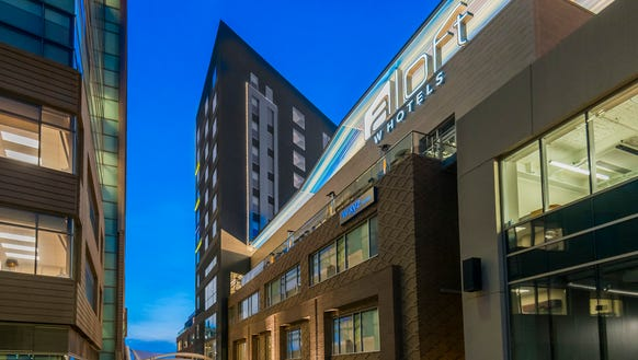 The Aloft Greenville Downtown in South Carolina opened