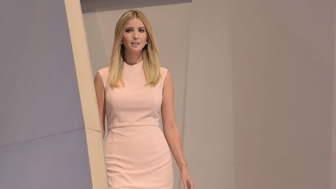 Ivanka Trump arrives to speak on the last day of the Republican National Convention on July 21, 2016, in Cleveland, Ohio. / AFP PHOTO / Brendan SmialowskiBRENDAN SMIALOWSKI/AFP/Getty Images ORIG FILE ID: AFP_DG81K