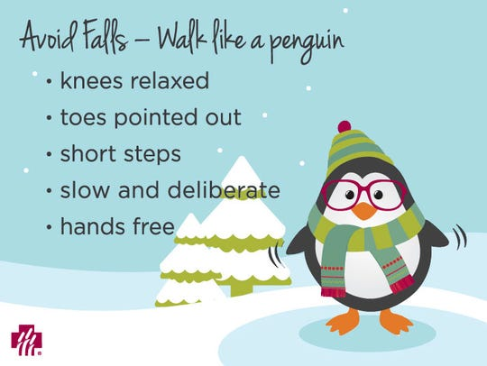 Avoid Falls - Walk like a penguin
