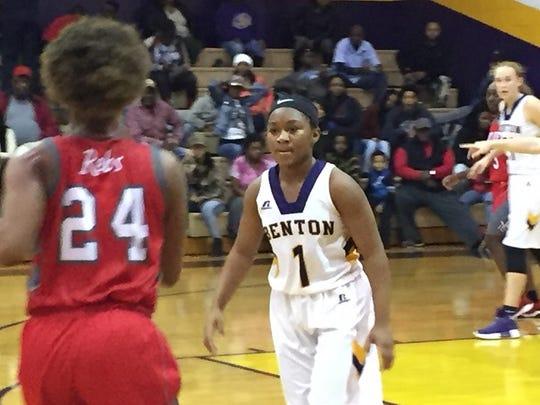 Benton's Jada Anderson defends North Caddo's Destiny Rice during Saturday's tournament final in Benton.