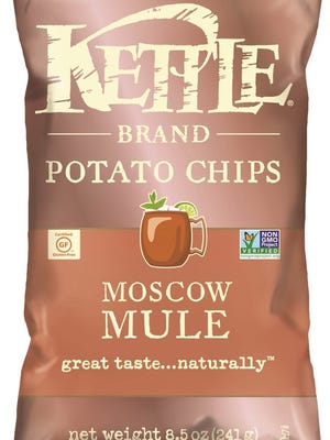Moscow Mule is one of the new flavors of Kettle Brand Potato Chips