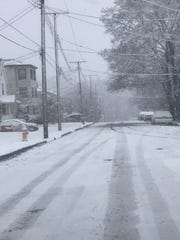 A side street in Johnson City, early Friday morning,