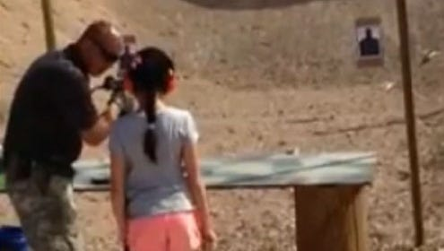 Instructor Charles Vacca, 39, was standing next to the girl Aug. 25, 2014, at the Last Stop outdoor shooting range in White Hills, Arizona, about 25 miles south of Las Vegas, when she squeezed the trigger.