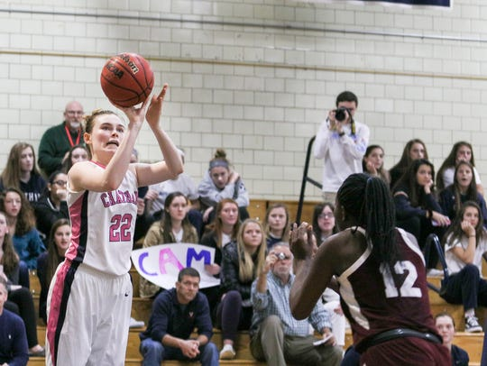 Chatham's Veronica Kelly scores her 1,000 career point