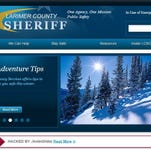 This screen grab from the Larimer County Sheriff's Office website shows a hacked news release that was displayed online Tuesday. The message has since been taken down.