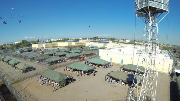 Tent City shot from a UAV.