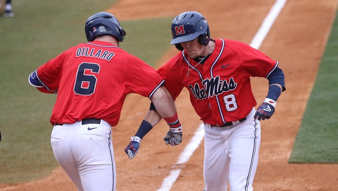 Senior Will Golsan (8) has been voted as a captain by his Ole Miss teammates.