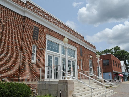 The Honorable Frank J. Testa Municpal Justice Building on Landis Avenue in Vineland.