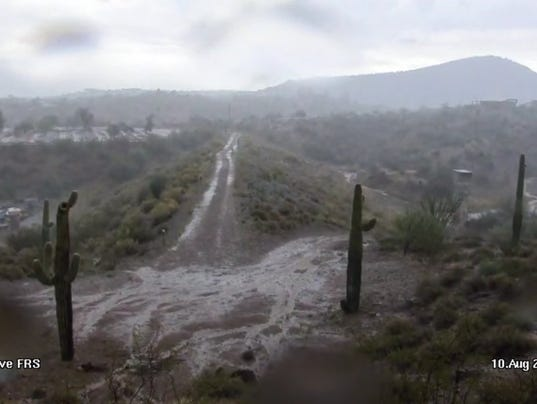 Flooding near Wickenburg