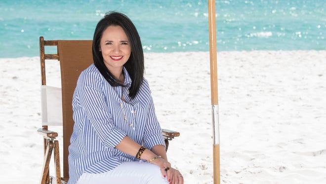 Anabella Owens.Hudson Jeans, Saks Miami; Divided shirt, H&M Pensacola; Steve Madden shoes, Dillard's; necklace, Kate Spade Destin, Michael Kors ring and bracelet.