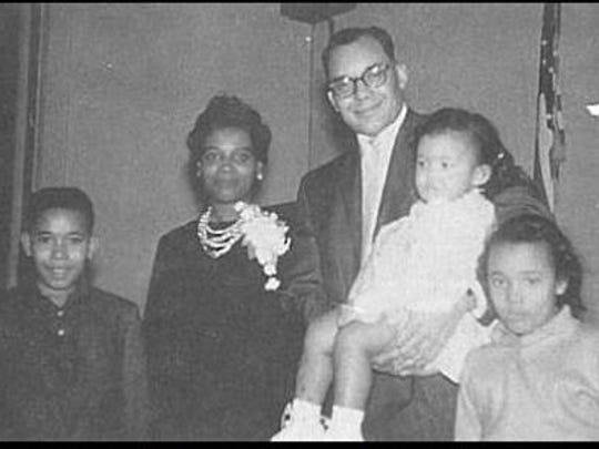 Karen Weaver as a toddler with her siblings and parents in an undated photo.