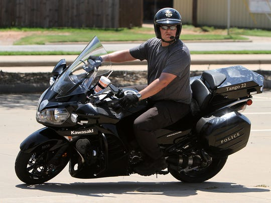 The motorcycles used by the Wichita Falls Police Department,