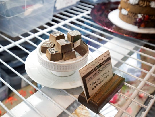 In this Jan. 4, 2018 photo, marijuana edibles are displayed