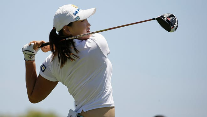 South Korea's Mirim Lee follows her drive from the ninth tee during the first round of the U.S. Women's Open at CordeValle Thursday in San Martin, Calif.