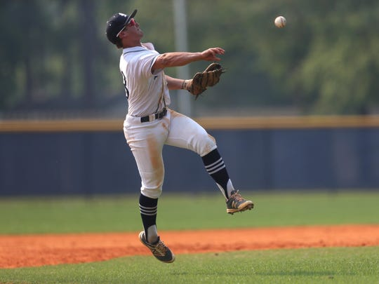 Maclay's Cal McCallum was 3 for 3 against St. Johns Country Day during an 11-2 win in a Region 1-3A semifinal on Wednesday.