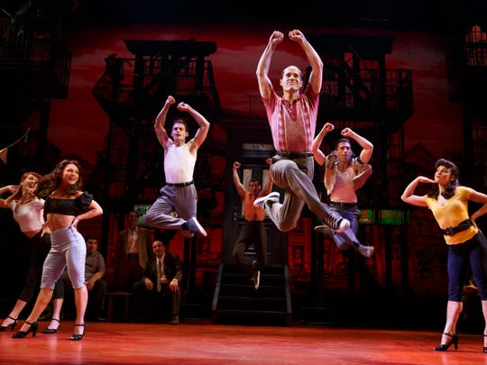 "A scene from the Broadway musical ""A Bronx Tale"""