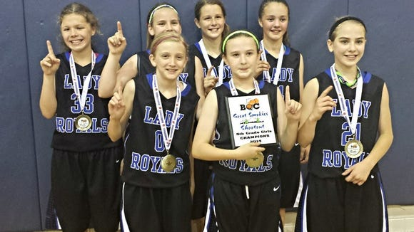 The WNC Lady Royals 5th grade team.