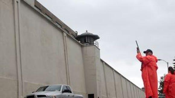 Law enforcement at Clinton prison after recent escape.