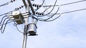 Power pole hit in west Nashville wreck.