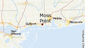 Moss Point is located in Jackson County on the Mississippi Gulf Coast