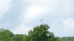 Wind turbines dot the Pennsylvania landscape along areas of the Great Allegheny Passage.
