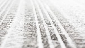 Roads were slippery this morning.